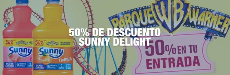 50% de descuento Parque Warner con Sunny Delight