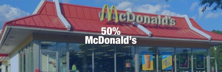 50% de descuento con McDonald's